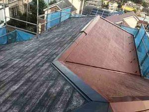 神奈川県横浜市瀬谷区 屋根塗装 中塗り・上塗り アドグリーンコート (2)