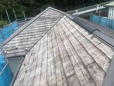 神奈川県横浜市中区 屋根塗装・外壁塗装 現場調査 屋根の劣化症状 退色 (2)