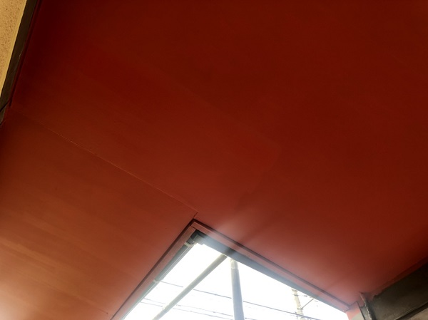 神奈川県横浜市瀬谷区 外壁塗装 付帯部塗装 軒天塗装 日本ペイント ケンエースG-Ⅱ (1)