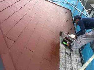 神奈川県横浜市瀬谷区 屋根塗装 中塗り・上塗り アドグリーンコート (3)