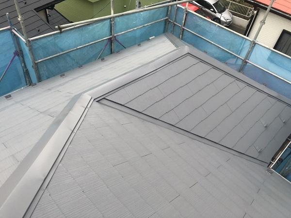 神奈川県横浜市港南区 屋根塗装 仕上げ塗装 ルミフロン (3)