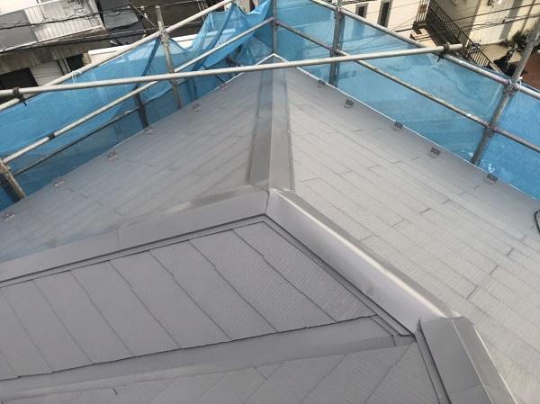 神奈川県横浜市港南区 屋根塗装 仕上げ塗装 ルミフロン (2)
