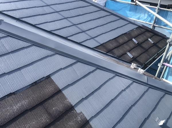 神奈川県横浜市港南区 屋根塗装 仕上げ塗装 ルミフロン (1)