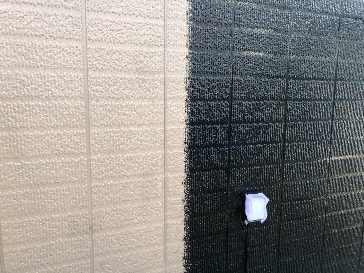 神奈川県横浜市保土ケ谷区 外壁塗装 中塗り 上塗り 光触媒塗料 (1)