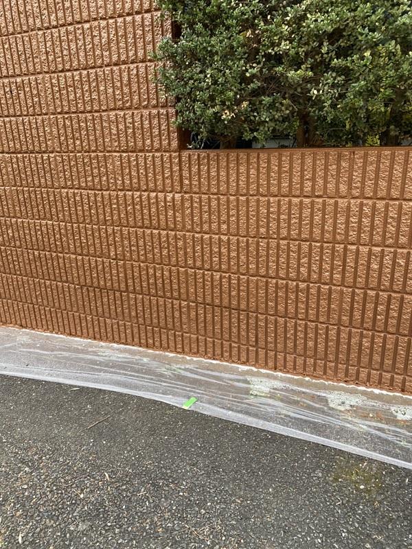 神奈川県横浜市栄区 塀塗装 白線引き直し 工程 (3)