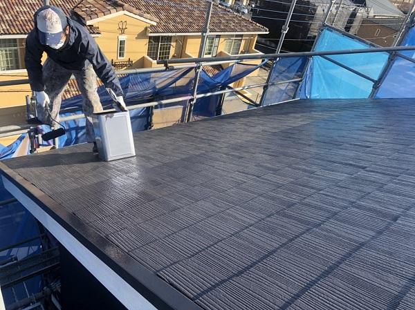 神奈川県横浜市保土ケ谷区 屋根塗装、外壁塗装 屋根・破風板塗装 日本ペイント パーフェクトトップ (1)