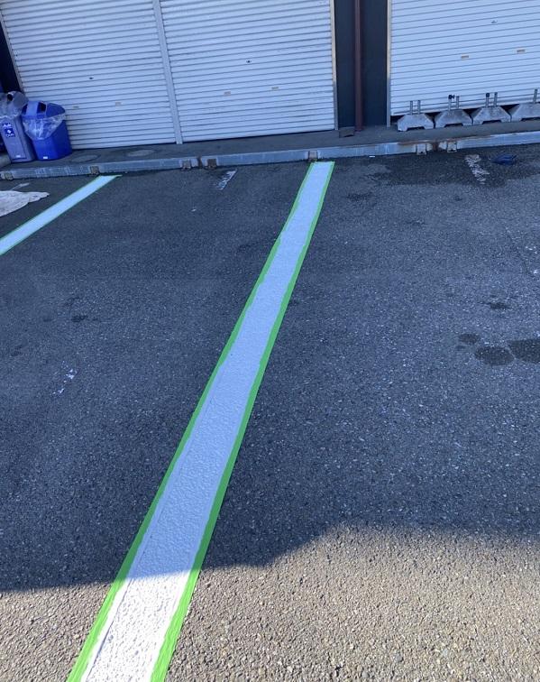神奈川県横浜市栄区 塀塗装 白線引き直し 工程 (5)