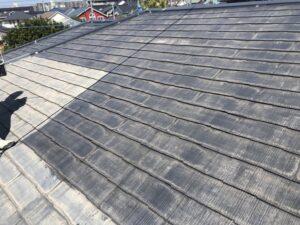 神奈川県横浜市神奈川区 屋根塗装 化粧スレート屋根 塗装の工程 日本ペイント 遮熱塗料 サーモアイ4F (6)