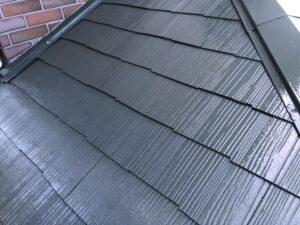 神奈川県横浜市神奈川区 屋根塗装 化粧スレート屋根 塗装の工程 日本ペイント 遮熱塗料 サーモアイ4F (1)