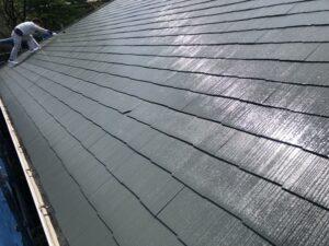 神奈川県横浜市神奈川区 屋根塗装 化粧スレート屋根 塗装の工程 日本ペイント 遮熱塗料 サーモアイ4F (4)