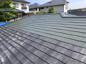 神奈川県横浜市神奈川区 屋根塗装 化粧スレート屋根 塗装の工程 日本ペイント 遮熱塗料 サーモアイ4F (2)