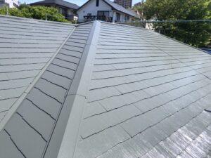 神奈川県横浜市神奈川区 屋根塗装 化粧スレート屋根 塗装の工程 日本ペイント 遮熱塗料 サーモアイ4F (3)