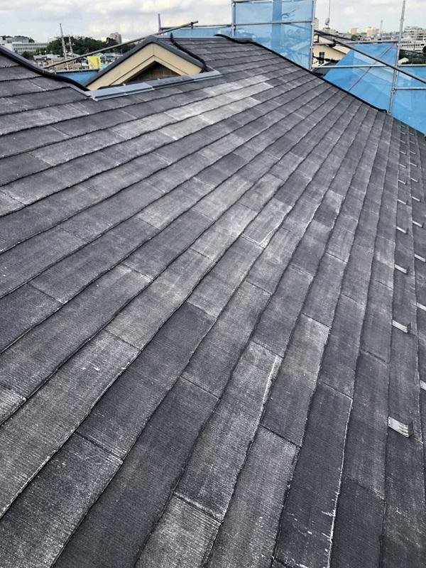 神奈川県横浜市青葉区 屋根塗装 防水工事 化粧スレート屋根の塗装 (2)
