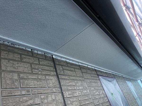 神奈川県横浜市港北区 外壁塗装・付帯部塗装・防水工事 軒天塗装 (2)