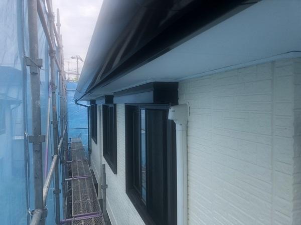 神奈川県横浜市港北区 外壁塗装・付帯部塗装・防水工事 雨樋、外壁塗装 (5)