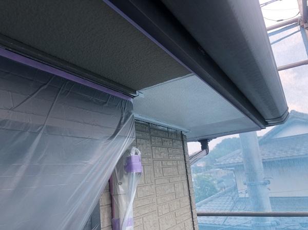 神奈川県横浜市港北区 外壁塗装・付帯部塗装・防水工事 軒天塗装 (1)