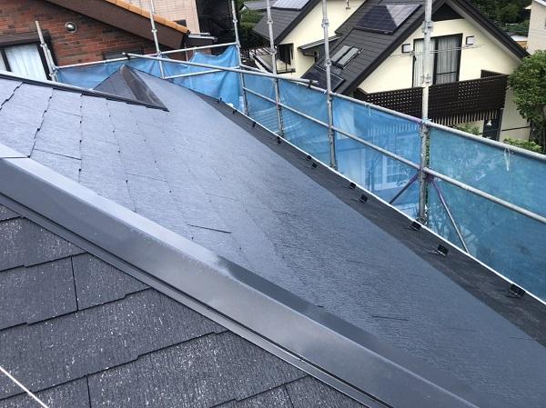 神奈川県横浜市南区 屋根塗装 スレート屋根 パラサーモN (3)