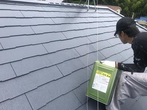 神奈川県横浜市南区 屋根塗装 スレート屋根 パラサーモN (1)