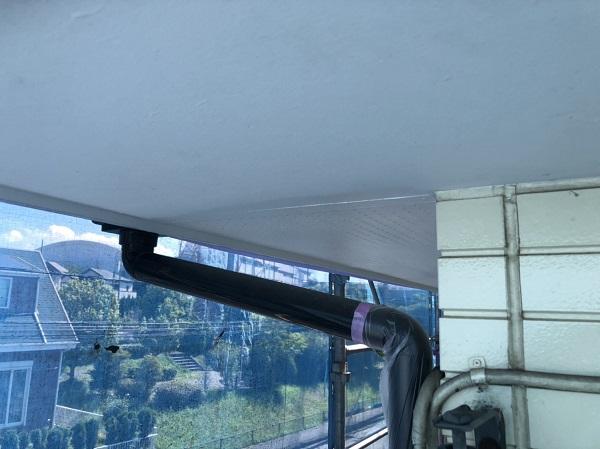 神奈川県横浜市都筑区 屋根塗装・外壁塗装・付帯部塗装 軒天、雨戸塗装 (1)