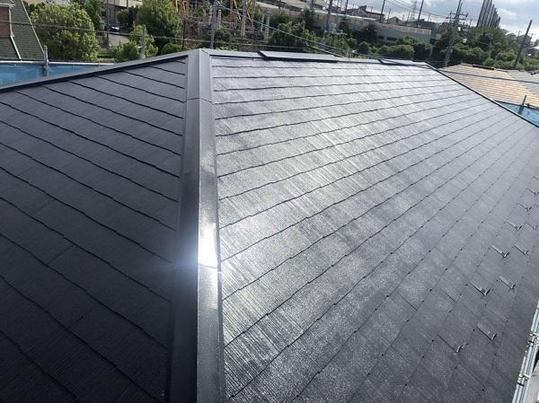 神奈川県横浜市都筑区 屋根塗装・外壁塗装・付帯部塗装 2階建てメゾネット 化粧スレート屋根 (2)