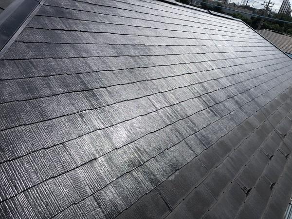 神奈川県横浜市都筑区 屋根塗装・外壁塗装・付帯部塗装 2階建てメゾネット 化粧スレート屋根 (1)