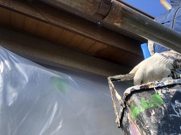 神奈川県横浜市西区 外壁塗装・付帯部塗装 軒天塗装 ニス仕上げ