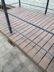 神奈川県横浜市西区 外壁塗装・付帯部塗装 施工前の様子 下地処理 養生 (3)