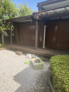神奈川県横浜市西区 外壁塗装・付帯部塗装 木材の塗装 木目を生かす塗料と消す塗料 (2)